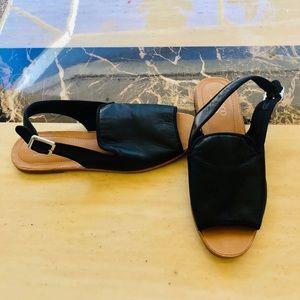 Franco Sarto black leather sandals